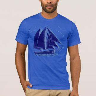 Blue sailboat nautical sailing captain T-Shirt