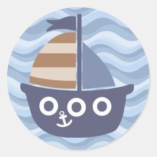 Blue sailboat sticker