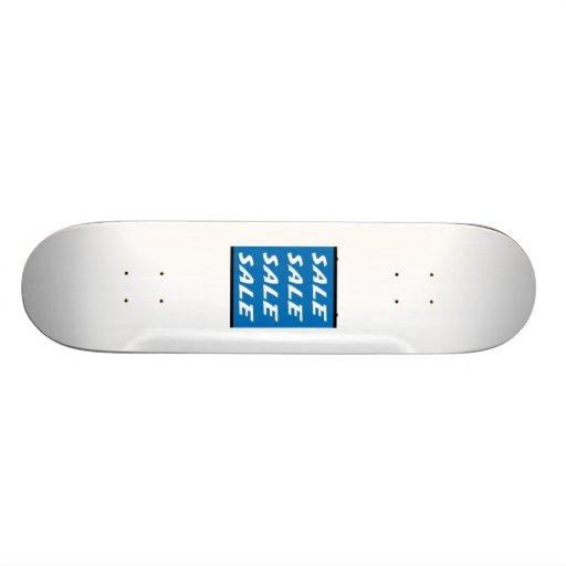 Blue Sale Sign Custom Skateboard