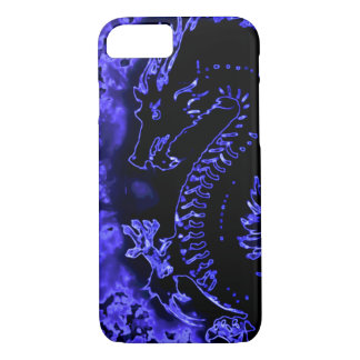 Blue Samurai Spirit Dragon iPhone 7 Case