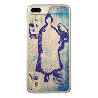 Blue Samurai Watercolor Graffiti Falcon Lord Carved iPhone 8 Plus/7 Plus Case