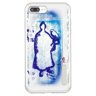 Blue Samurai Watercolor Graffiti Falcon Lord Incipio DualPro Shine iPhone 8 Plus/7 Plus Case