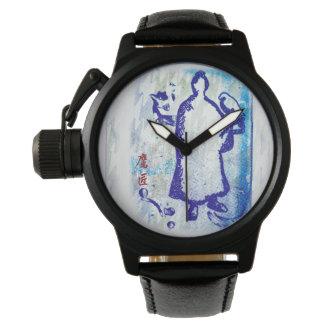 Blue Samurai Watercolor Graffiti Falcon Lord Watch