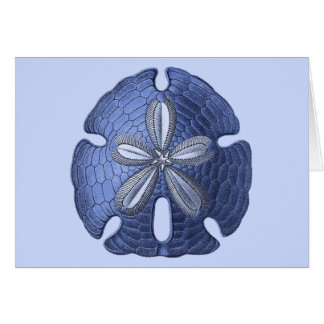 Blue Sand Dollar Card
