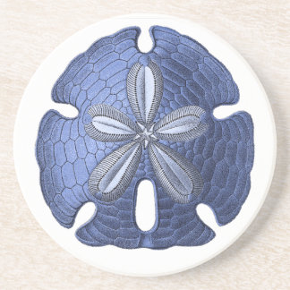 Blue Sand Dollar Stone Coaster