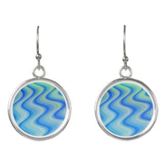 Blue Sand Wavy Fashion Earrings by Julie Everhart