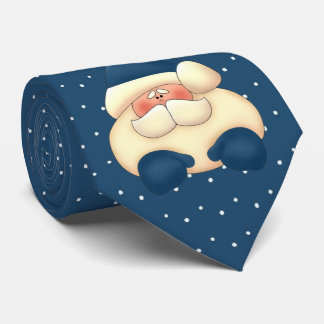 Blue Santa Polka Dot Holiday Tie