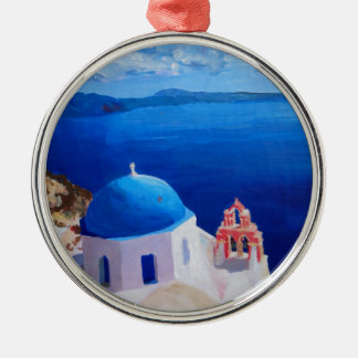 Blue Santorini, Greece - View from Oia Christmas Ornament