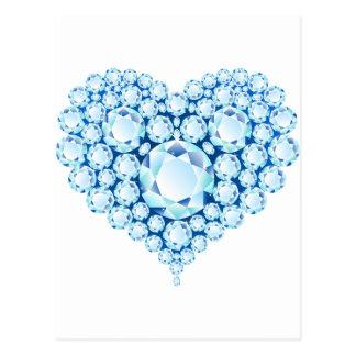 Blue Sapphire Heart Gems Postcard