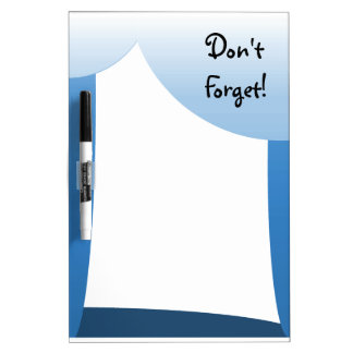 Blue scallops Don't  Forget! Dry Erase Board