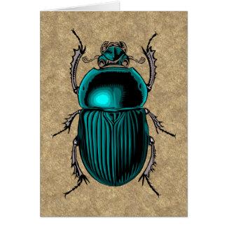 Blue Scarab Greeting Card