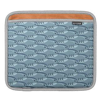Blue Schooling Fish iPad Sleeve