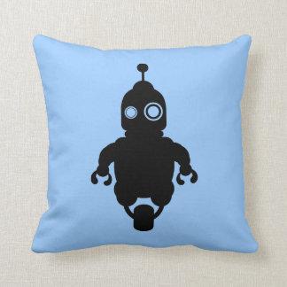 Blue Sci-Fi Robot Cushion