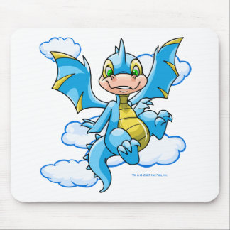 Blue Scorchio with his head in the clouds Mouse Pad