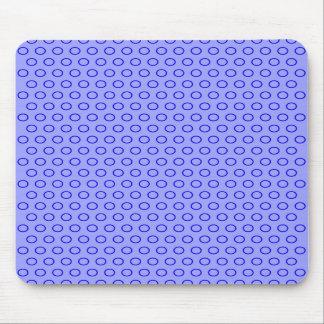 blue scores circles blue retro 70 vintage dots mouse pads