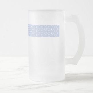 blue scores circles blue retro 70 vintage dots mug