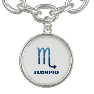 Blue Scorpio Zodiac Signs On White