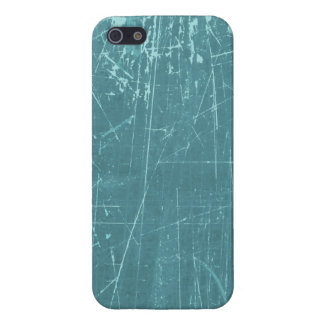 Blue Scratched Aged and Worn Texture iPhone 5/5S Case