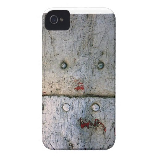blue scratched Metal iPhone 4 Cover