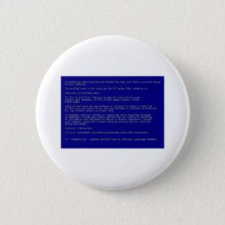 Blue Screen of Death 6 Cm Round Badge