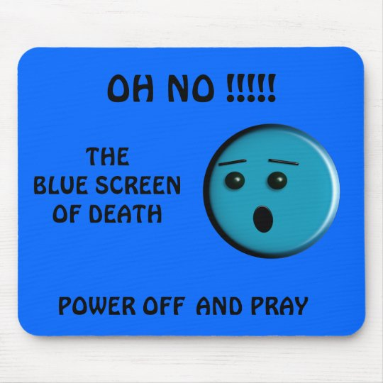 Blue Screen of Death - - Customised - Customised Mouse Mat
