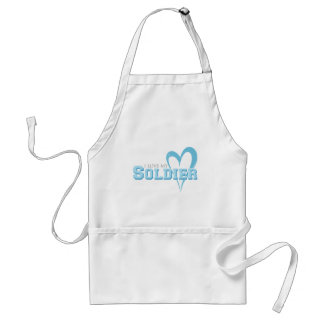 Blue Scribbled Heart - I Love My Soldier Standard Apron