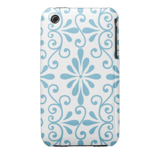 Blue Scroll 3G/3GS Case iPhone 3 Cases
