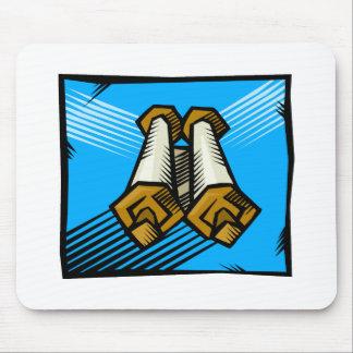 Blue Scrolls Mouse Pad