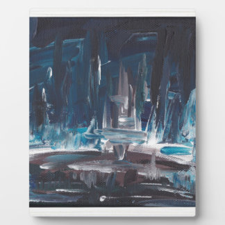 Blue Sea Abstract Art Painting Plaques