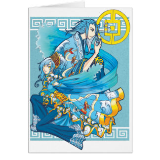 Blue Sea of White Waves card