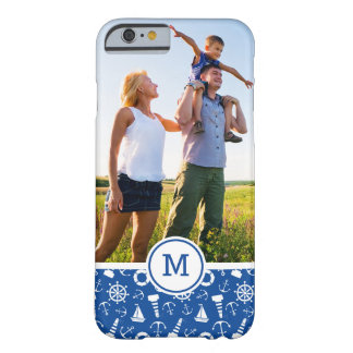 Blue Sea Pattern  Add Your Initial Barely There iPhone 6 Case