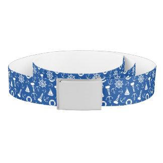 Blue Sea Pattern Belt