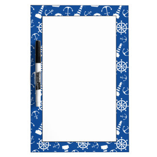 Blue Sea Pattern Dry Erase Board
