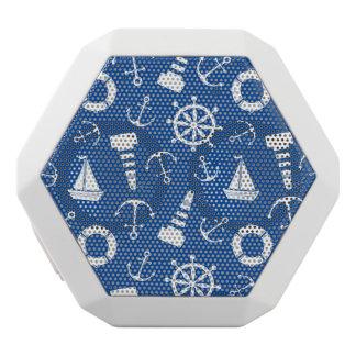 Blue Sea Pattern White Bluetooth Speaker