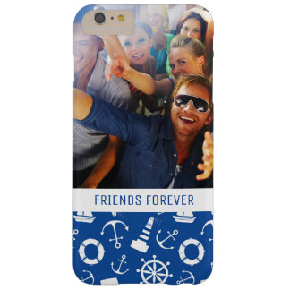 Blue Sea Pattern | Your Photo & Text Barely There iPhone 6 Plus Case