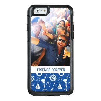 Blue Sea Pattern | Your Photo & Text OtterBox iPhone 6/6s Case