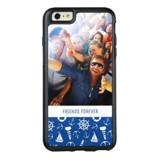 Blue Sea Pattern | Your Photo & Text OtterBox iPhone 6/6s Plus Case
