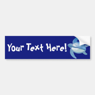 Blue Sea Turtle Bumper Sticker