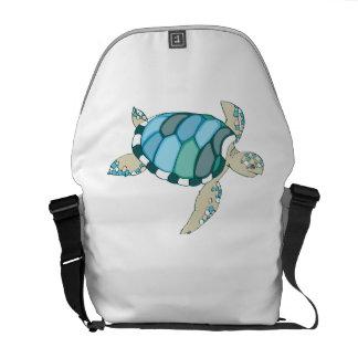 Blue Sea Turtle Courier Bags