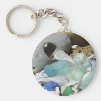 Blue Seaglass keychain custom Beach Coast
