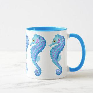 Blue Seahorse coffee mug
