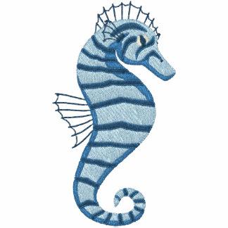 Blue Seahorse Emrbroidered Tees