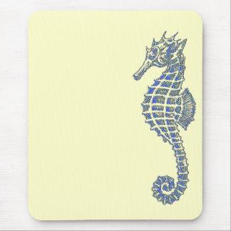 Blue Seahorse Mouse Mat