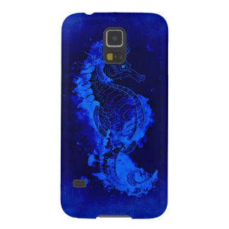 Blue Seahorse Painting Galaxy S5 Covers