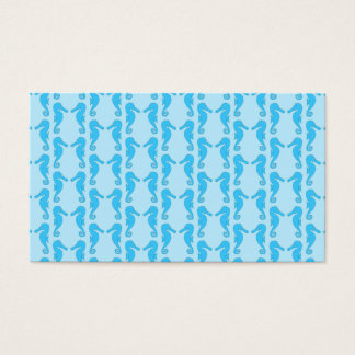 Blue Seahorse Pattern Business Card