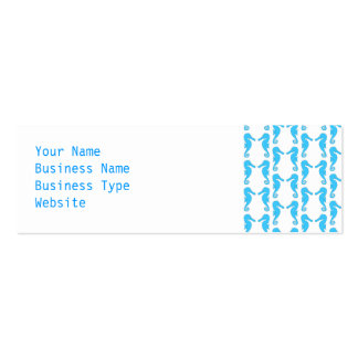 Blue Seahorse Pattern Pack Of Skinny Business Cards