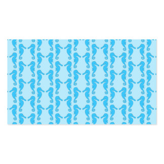 Blue Seahorse Pattern Pack Of Standard Business Cards