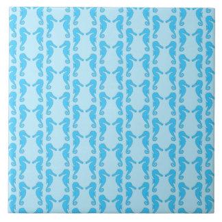 Blue Seahorse Pattern Tile