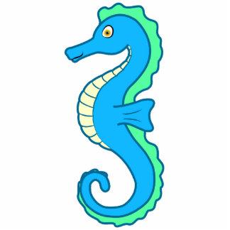 Blue Seahorse Photo Sculpture Ornament