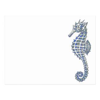 Blue Seahorse Postcard